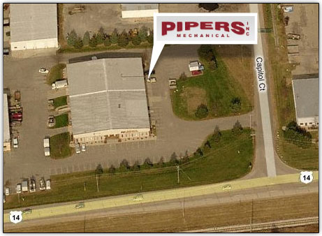 Satellite view of Pipers Mechanical